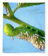 Tomato Hornworm Fleece Blanket
