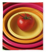 Tomato In Mixing Bowls Fleece Blanket