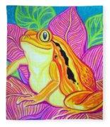 Tomatoe Frog Fleece Blanket
