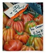Tomatoes At Market Fleece Blanket