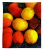 Tomatoes Matisse Fleece Blanket