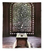 Tomb At The Humayun Temple Complex Fleece Blanket