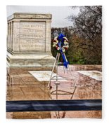 Tomb Of The Unknown Soldiers Fleece Blanket