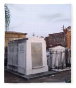 Tombs In St. Louis Cemetery Fleece Blanket