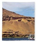 Tombs Of The Nobles Aswan Fleece Blanket