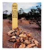 Tombstone Boot Hill Fleece Blanket