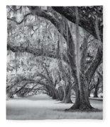 Tomotley Plantation Oaks Fleece Blanket