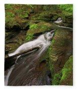 Tompkins Falls Catskills N.y.-7 Fleece Blanket