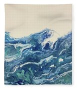 Too Blue Fleece Blanket