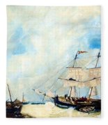 Too Close To Shore Fleece Blanket