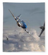 Top Gun - 1944 Version - P51 V Bf109g Fleece Blanket