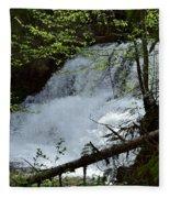 Top Of Clear Creek Falls Fleece Blanket