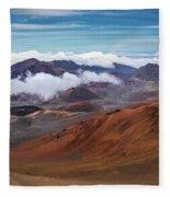 Top Of Haleakala Crater Fleece Blanket