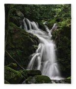 Top Of Mouse Creek Falls  Fleece Blanket