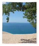 Top Of The Dune At Sleeping Bear Fleece Blanket
