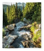 Top Of The Morning At The Top Of Myrtle Falls Fleece Blanket