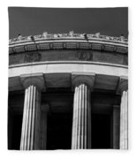Top Portion Of A Lincoln Memorial Old Greek Architecture Fleece Blanket