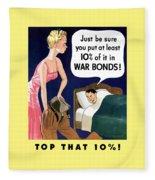 Top That -- Ww2 Propaganda Fleece Blanket