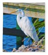 Topsail Egret Fleece Blanket