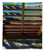 Topsail Island Ocean Steps Fleece Blanket