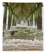 Topsail Island Pier Fleece Blanket