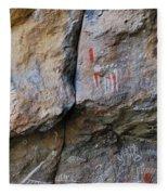 Toquima Cave Pictographs Fleece Blanket