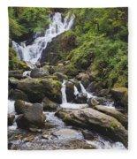 Torc Waterfall In Killarney National Fleece Blanket