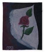 Torn Canvas Rose Fleece Blanket
