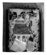 Torn Posters Rome Italy Fleece Blanket