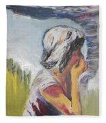 Tornado Girl Fleece Blanket