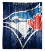 Toronto Blue Jays Barn Door Fleece Blanket