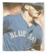 Toronto Blue Jays Josh Donaldson 4 Fleece Blanket