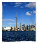 Toronto Skyline 26 Fleece Blanket