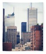 Toronto - Skyline Fleece Blanket