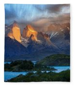 Torres Del Paine National Park, Chile Fleece Blanket