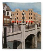 Tosa Village Bridge Fleece Blanket