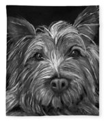 Tosha The Highland Terrier Fleece Blanket