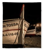 Tossa De Mar By Night Fleece Blanket