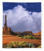 Totem Pole Monument Valley Fleece Blanket