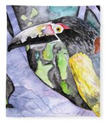 Toucan Bird Tropical Painting Fine Modern Art Print Fleece Blanket