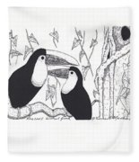 Toucans Central Park Fleece Blanket