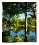 Touch Of Autumn Fleece Blanket