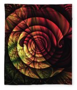 Touch Of Sunshine Abstract Fleece Blanket