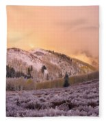 Touch Of Winter Fleece Blanket