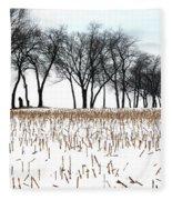 Touch Of Winter  Fleece Blanket