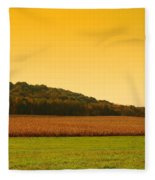 Touched By Golden Light - Battlefield Orchards Fleece Blanket