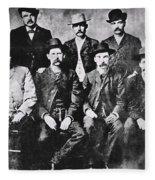 Tough Men Of The Old West Fleece Blanket