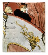 Toulouse-lautrec, 1893 Fleece Blanket