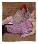 Toulouse Lautrec The Sofa Fleece Blanket