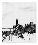 Toulouse Skyline-black Fleece Blanket